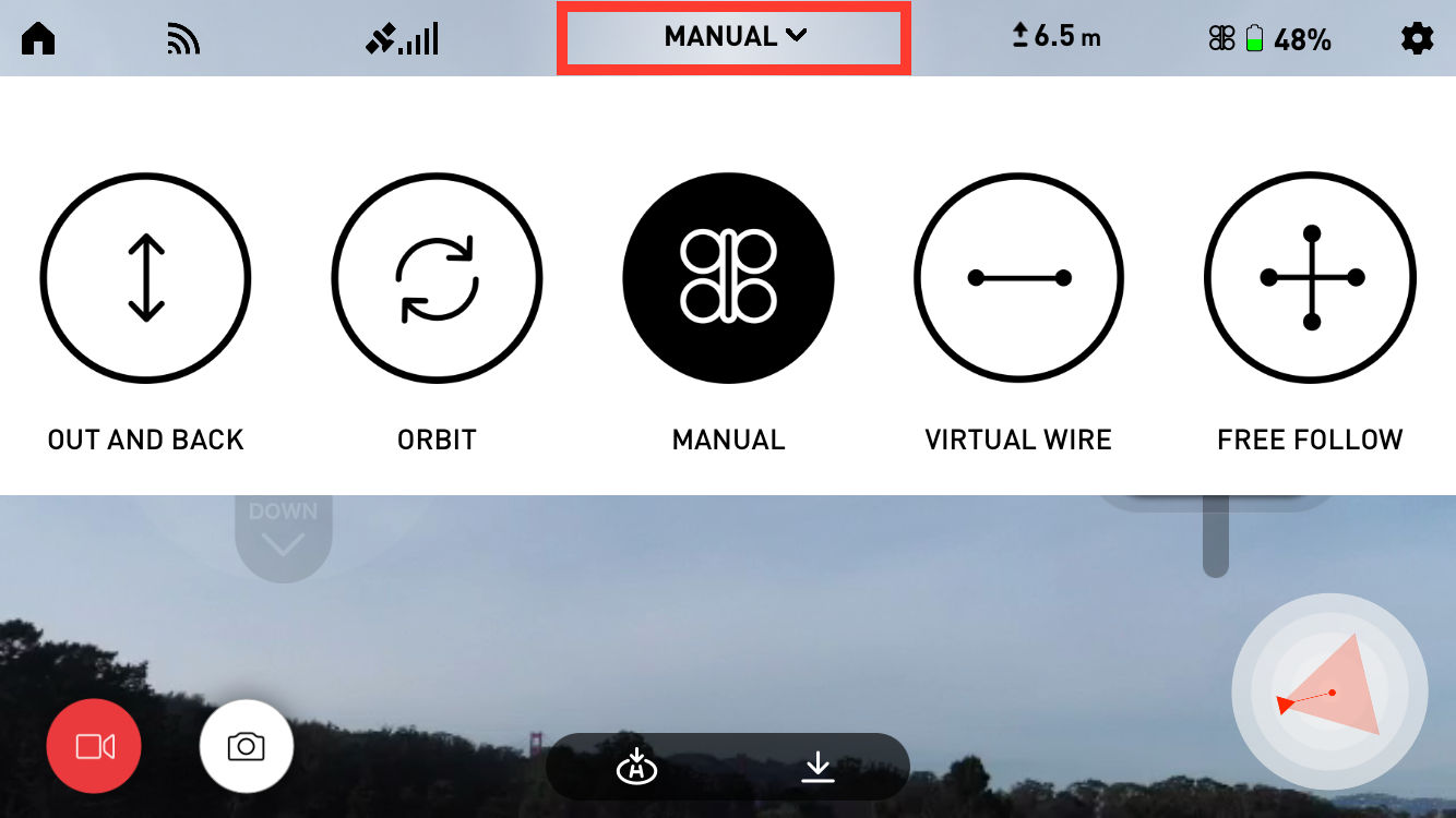 Snap Manual Vantage Robotics Should It Be Of Interest An Electronic Copy This Is One Changes Flight Modes By Tapping The Mode Selection Button In Top Center Navigation Bar Outlined Red Above